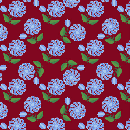 Vector seamless. Endless floral pattern.