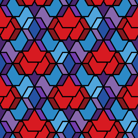 Abstract geometric seamless pattern. Vector.