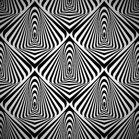 arte optico: Arte óptico sin fisuras patrón geométrico abstracto. Vector. Foto de archivo