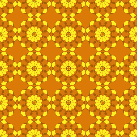 Abstract floral seamless pattern. Vector. Stock Photo