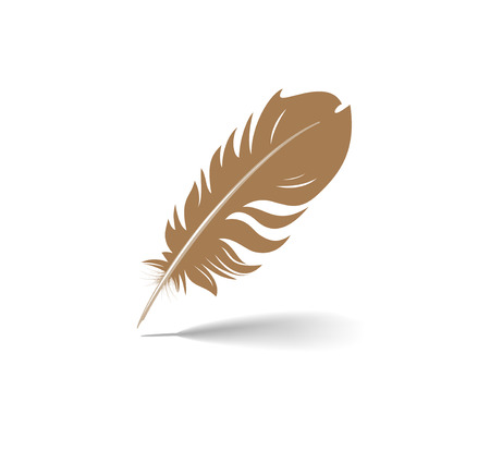 A vector illustration of an old feather pen.