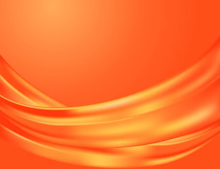 Elegant abstract background made of graceful folds of a silk fabric in red and orange colors. Çizim