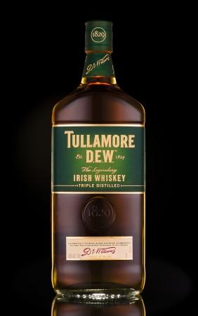 whiskey bottle: Tullamore Dew Irish Whiskey Editorial