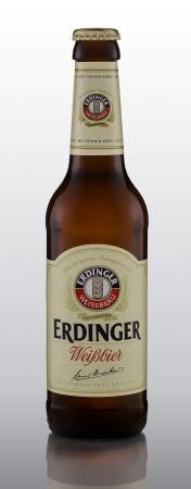 Erdinger Weissbier Hefeweizen style beer brewed in Erding, Germany