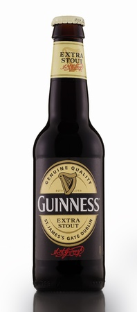 cerveza negra: Guinness Stout extra Dry Beer Irish
