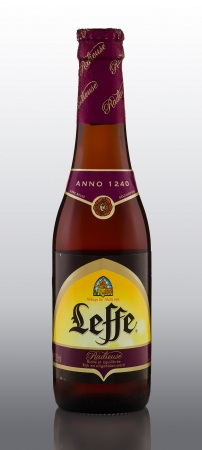amber coloured: Leffe Radieuse is an amber-coloured beer Editorial