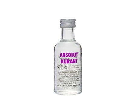 Absolut Kurant Vodka 50ml bottle miniature