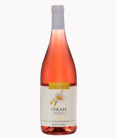 syrah: Bootle of Syrah Rose Pays Doc Editorial