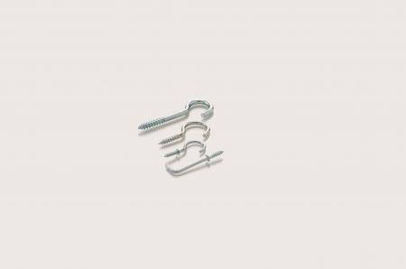 plated: Zinc plated screw hooks