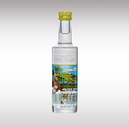 van gogh: Van Gogh Coconut Vodka miniature bottle Editorial