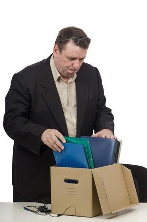 sacked: Middle-aged man got sacked Stock Photo