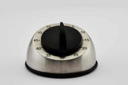 timekeeping: Metallic kitchen timer