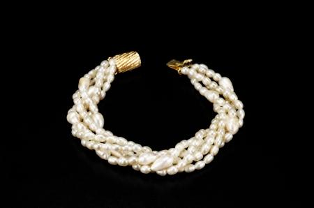 freshwater pearl: Freshwater pearl bracelet  Stock Photo