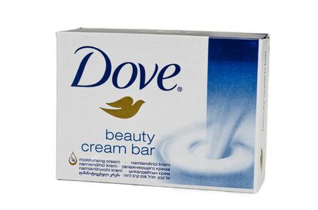 Dove beauty cream bar on white background Stock Photo - 22892748