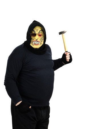 bonkers: Maniac in a mask waves a hammer