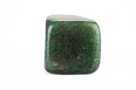 aventurine: Green aventurine cube on white backgroud