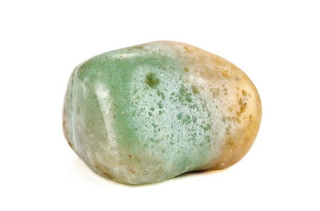 aventurine: Green aventurine natural stone on white backgroud