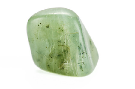 jade: Butter jade stone on white backgroud Stock Photo