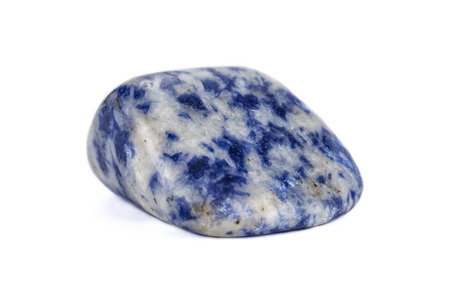 sodalite: Sodalite gemstone on white backgroud