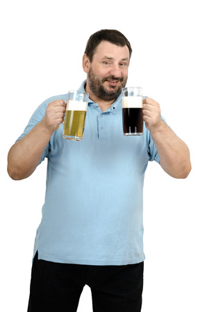 Man intends to drink beer then lager beer