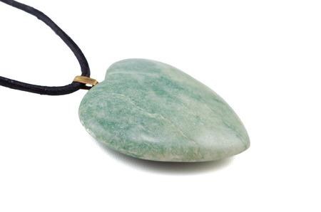 amazonite: Amazonite heart with leather string