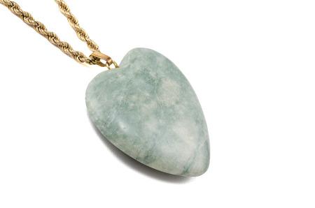 amazonite: Amazonite heart with golden chain