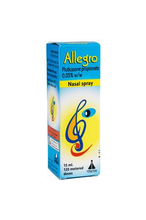allegro: Allegro Nasal spray isolated on white