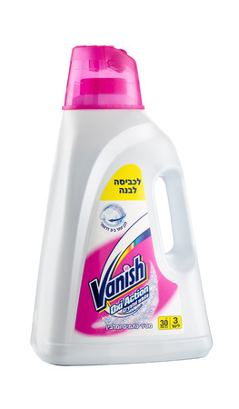 vanish: Plastic can of Vanish Oxi Action Crystal White Gel 3L. It gives you amazing stain removal and whites up to three shades whiter