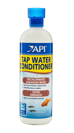 safe water: Plastic bottle of Tap Water Conditioner 473ml. Dechlorinates aquarium and tap water. Detoxifies heavy metals. Safe for all aquatic life. Use in both fresh and salt water