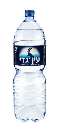 ein: Plastic bottle of Ein Gedi 2Liter. Natural mineral spring water. Produced in Israel