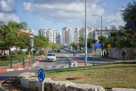 yam israel: Rishon LeZion, Israel - January 9, 2016:  Mivtsa Moshe Street in Neve Yam neighbourhood Editorial