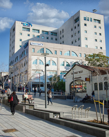 maccabi: Rishon LeZion, Israel - January 12, 2016: The modern high-story building of Maccabi Healthcare Services