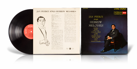 melodies: Rishon Le Zion, Israel - July 7, 2016:  Old vinyl disc Jan Peerce Sings Hebrew Melodies. Record compilation of Jewish songs in Hebrew and Yiddish. Editorial