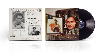 lp: Rishon Le Zion, Israel-July 31, 2016:  Old used vinyl record Victor Yturbe Piruli con mariachi Jose Alfredo. The LP was printed in Mexico in 1976