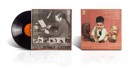 ocampo: Rishon LeZion, Israel-August 4, 2016: Old used vinyl album Clasicamente Joven Cacho Tirao: Guitarra, Arreglos y Direccion orquestal: Oscar Cardozo Ocampo. The LP was printed in Argentina