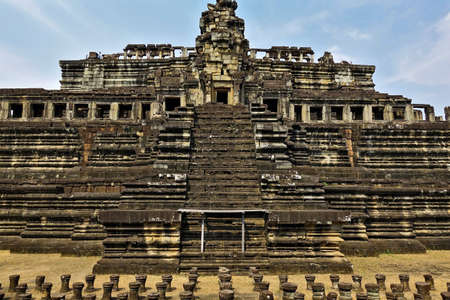 The ancient temple of Bapuon. The stone palace in the form of a five-step pyramid.