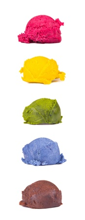 color ice creams  photo
