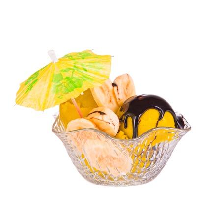 ice cream sundae: yellow ice cream sundae