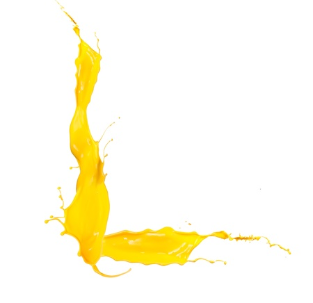 Yellow Liquid alphabet letter L photo