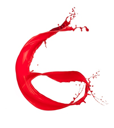 liquid g: Red Liquid alphabet letter G Stock Photo