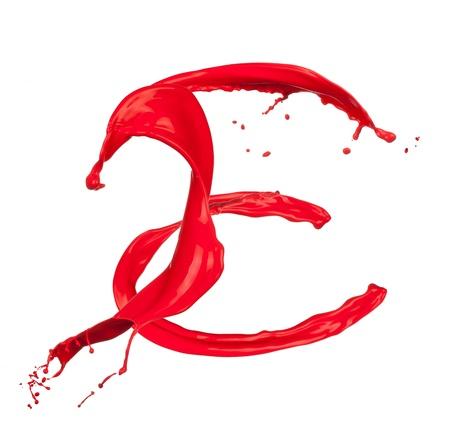 e liquid: Red Liquid alphabet letter E