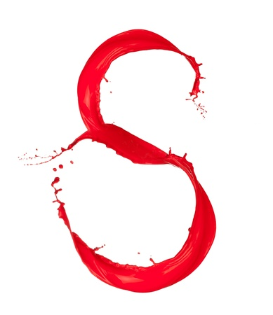 Red Liquid alphabet letter S photo