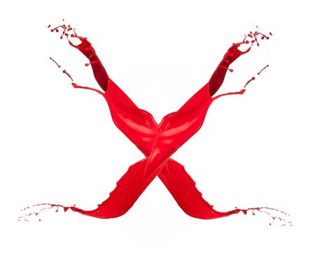 liquid x: Red Liquid alphabet letter X