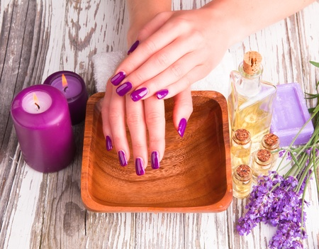 concep: Beautiful woman Hands Manicure concep