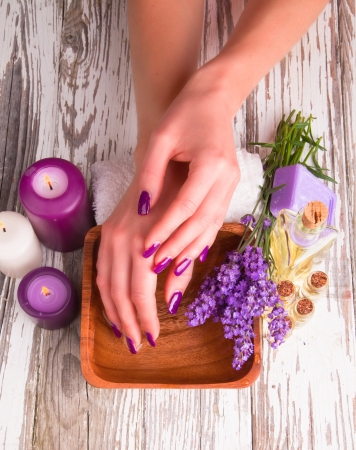 Beautiful woman Hands. Manicure concept photo