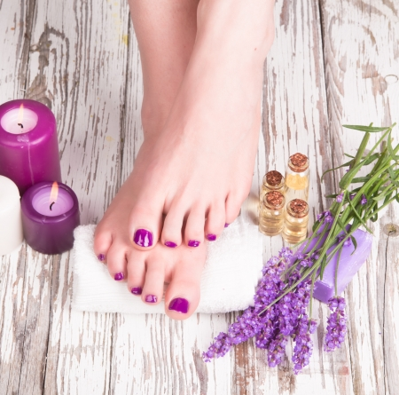 concep: Beautiful woman sole  Manicure concep