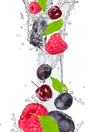 Fresh fruit in water splash photo