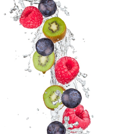 Fresh fruit in water splash photo