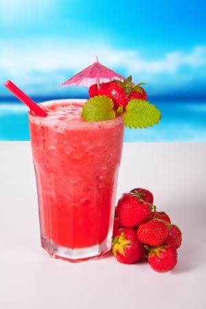 zomers drankje: summer drink  Stockfoto