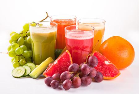 Verse groenten, fruit en sap